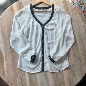 Zara Basic Long Sleeve Button Down Shirt